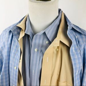 3x Brooks Brothers Mens 18.5 37 Shirts MADISON